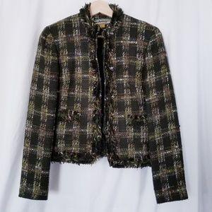 Allen Schwartz Green Tweed Jacket